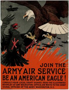 Army Air Service recruitment poster,  ca. 1918    World War I Poster Collection