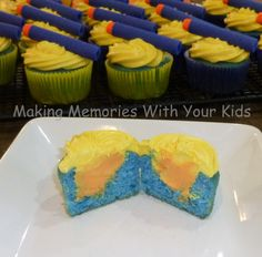 nerf birthday party cupcakes