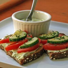 Classic Bruschetta Gets Turned Up a Notch With a Tangy Protein-Packed Spread
