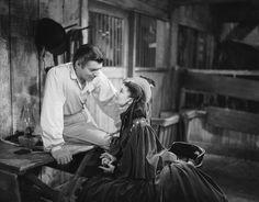 Gone With the Wind. Scarlett meeting Rhett in her famous curtain dress