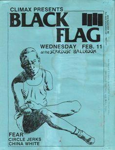 Black Flag, FEAR, Circle Jerks, China White @ The Stardust Ballroom. 1981
