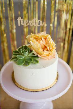 Gold Glitter Fiesta Cake Topper