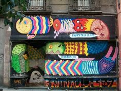 Street Art of #Madrid - Very colorful (by unknown)