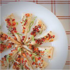 #Epicure Mini Veggie Puff Pizzas