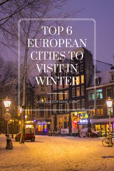 Top 6 European Cities To Visit In Winter : Traveling in the off season like winter is a great way for travelers to save money on a travel budget, and there is nothing quite like getting to explore a new and exciting city during Christmas. European Destination, European Travel, Europe Travel Guide, Travel Guides, Travel Advice, Winter Destinations, Travel Destinations, Christmas Travel, Winter Travel