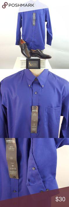 NWT Kenneth Cole Reaction Dress Shirt NWT button-down dress shirt by Kenneth Cole Reaction. Size 16 - 16 1/2. 34-35. 100% non iron cotton. Persian blue color. ( BM63- BM1) Kenneth Cole Reaction Shirts Dress Shirts