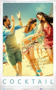 Cocktail is a Bollywood Romantic Comedy film starring Saif Ali Khan, Deepika Padukone and debutante Diana Penty in the lead roles. Hindi Movies Online, Watch Free Movies Online, Watch Movies, Dramas Online, Bollywood Movie Trailer, Movies Bollywood, Tamil Movies, Bollywood Couples, Bollywood Cinema