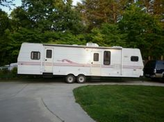 Camper Travel Trailer RV remodel, My parents gave us their old camper....now they want it back!, 1998 Jayco Eagle, Other Spaces Design