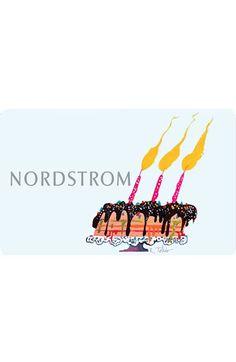 Nordstrom Classic e-Gift Card Birthday Treat $100