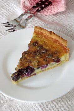 Szofika a konyhában...: Áfonyás-tejszínes pite