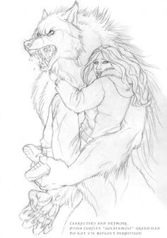 """""""Her Protector"""" by Christy Grandjean www.goldenwolfen.com Scene from my upcoming novel """"Hunger"""""""