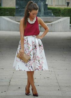 Shop Women's size Small, Medium, Large Skirts at a discounted price at Poshmark. Description: New Gorgeous Floral Pleated Skirt💜. Classy Dress, Classy Outfits, Skirt Outfits, Dress Skirt, Midi Skirt, Skirt Fashion, Fashion Dresses, Floral Pleated Skirt, Summer Wedding Outfits