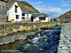 Boscastle River Down To The Harbour.