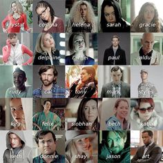 The faces of Orphan Black