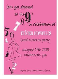 Bachelorette Party invite for a fun classy Savannah night out on the town.