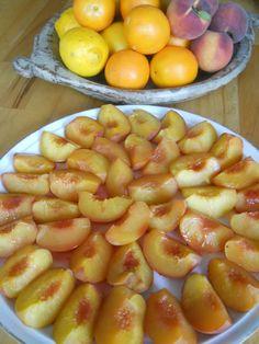 peaches poached in orange juice and rosewater #fabulousfruitandveggies #5aday #mannafromdevon
