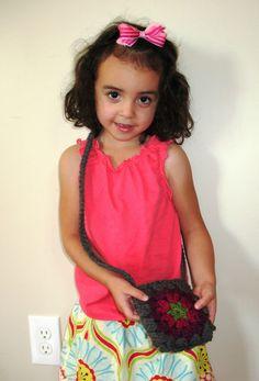 Ball Hank n' Skein: Crochet Mandala Kids Purse Pattern and Tutorial
