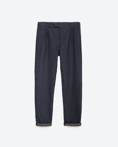 JACQUARD TROUSERS-Smart-Trousers-WOMAN-PROMOCIJA | ZARA Norway. Prøv med stripete genser ,t-skjoryer og ulike sko