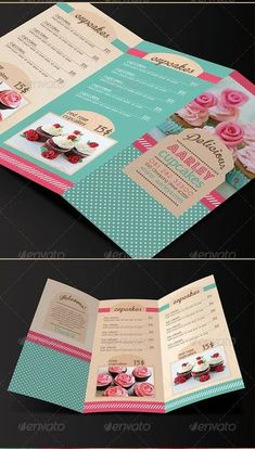 Bakery Decor, Bakery Cafe, Bakery Logo Design, Menu Design, Marketing Colors, Fresh Mint Tea, Baking Logo, Foil Business Cards, Deco Restaurant
