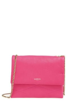 Lanvin  Mini Sugar  Quilted Lambskin Leather Crossbody Bag available at   Nordstrom Leather Crossbody a48ee273cdc32