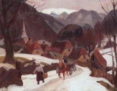 Landscape Paintings, Landscapes, France, Paris, Nature, Beauty, Mountain, Oil On Canvas, Snow