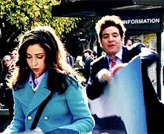 "When Ted bumped into the Mother on the way to class: | 18 Unforgettable Moments From ""How I Met Your Mother"""