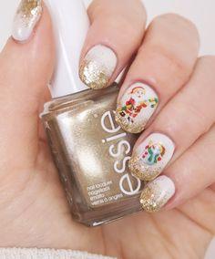 Sweet Christmas-Glitter-Nails