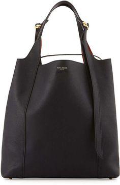 Nina Ricci Faust Large Leather Bucket Bag, Black
