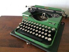 RARE Royal Portable Green Typewriter by TheLovelyGreenWall