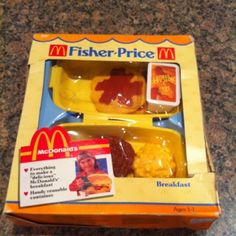 Vintage Fisher-Price food, McDonald's Breakfast