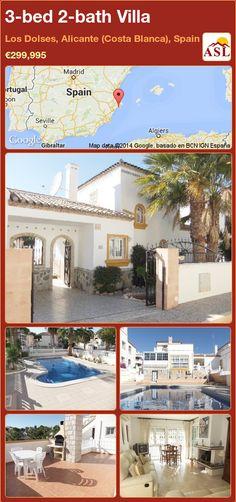 3-bed 2-bath Villa in Los Dolses, Alicante (Costa Blanca), Spain ►€299,995 #PropertyForSaleInSpain