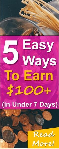 5 easy ways to make extra money fast! Read hot to EASILY make $100-$200 or more from the comfort of your own home!