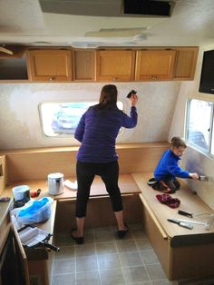 :: Maisie Toot ::: Maisie Toot ::Part 3:: Painting :: Travel trailer camper turned glamper renovation and remodel