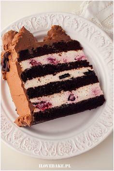 tort smietanowy Cookie Desserts, Chocolate Desserts, Polish Recipes, Homemade Cakes, Cupcake Recipes, Cake Cookies, No Bake Cake, Sweet Recipes, Food And Drink