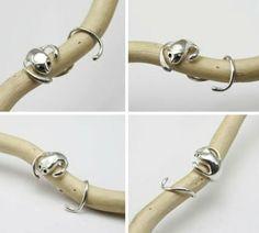 Monkey Ear Cuff, Sterling Silver Monkey Ear Cuff. Pure Silver, 925 Silver, Sterling Silver