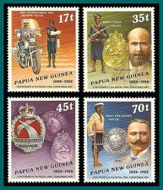 Papua New Guinea Stamps 1988 Police Centenary, MNH