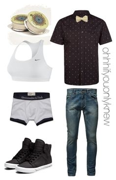 """Untitled #207"" by ohhhifyouonlyknew ❤ liked on Polyvore featuring Charles and a Half, Jack & Jones, Supra, Abercrombie & Fitch, NIKE, tomboy and dyke"