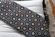 Gray hexagon blanket, using Lucy's free pattern ~ http://attic24.typepad.com/weblog/hexagon-howto.html  #crochet #afghan #throw #pillow