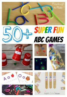 More than 50 super fun ABC games for kids. {Playdough to Plato}