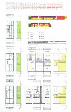Case Study: Project Nemausus by Jean Nouvel Jean Nouvel, Montpellier, Floor Plan Drawing, Social Housing, Case Study, Architecture Design, House Plans, Floor Plans, How To Plan