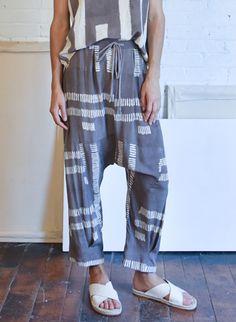 Seek Collective Jaipur Pants, dove dashes print