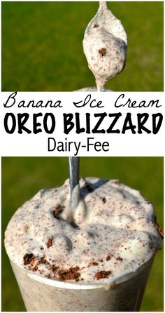 Banana Oreo blizzard - dairy free if you use lactose-free milk Lactose Free Recipes, Dairy Free Diet, Gluten Free, Dairy Free Desserts, Dairy Free Cheesecake, Dairy Free Cookies, Dairy Free Snacks, Dairy Free Ice Cream, Vegan Ice Cream