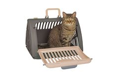 "Finally a cat carrier that is designed specifically for cats. The sport pet travel master cat carrier is the last cat carrier you will ever need. The key feature is the carrier's door with a wide side-opening gate that cats feel comfortable walking into. The carrier's gate can be smoothly shut, quickly and safely keeping you and your pet safe and happy. Numerous veterinarians and reviewers have commented about the door design making life easier. ""Working with a cat has become so much…"