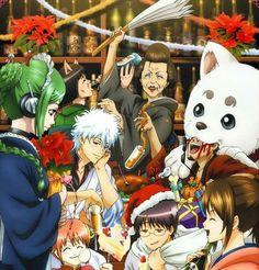 Gintama, Yorozuya, Gintoki, Shimura Shinpachi, Kagura, Sadaharu, Otose Snack House, Otose, Catherine, Tama, Shimura Tea