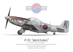 "BBA: P-51D Mustang, Maj. Dean Hess, Projet ""Bout One"", RoKAF, 1950"