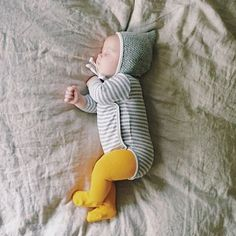 This sweet girl has the right idea. Our Knit Tights in Marigold are the perfect pop of color in little winter wardrobes!