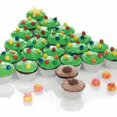 49 Best Christmas Tree Cupcakes Images In 2018 Sweet Recipes