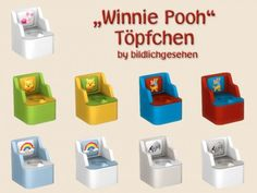 """Akisima Sims Blog: Toddlers potty """"Winnie Pooh"""" • Sims 4 Downloads"""