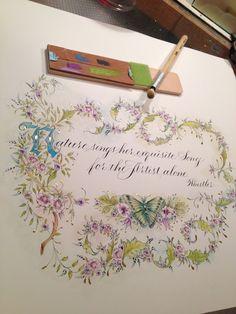 Ink Flourishes: Time for Transitions Fake Calligraphy, Calligraphy Cards, Copperplate Calligraphy, Beautiful Calligraphy, Calligraphy Alphabet, Islamic Calligraphy, Illuminated Letters, Illuminated Manuscript, Envelopes
