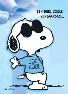 Snoopy kaart - snoopy-met-zonnebril Happy Birthday Man, Happy Birthday Pictures, Birthday Wishes, Birthday Cards, Snoopy Party, Joe Cool, Snoopy Quotes, Happy B Day, Man Humor